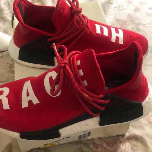 a29b2cc7 adidas Shoes | Red Human Racers Size 9 Preowned | Poshmark